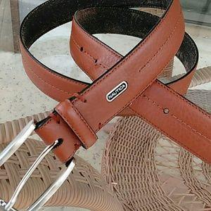 🆕🆙🚹Nautica belt mens brown leather